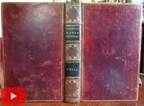 Poetry Poetical Works 1836 fine book Rogers Lamb Campbell Montgomery White