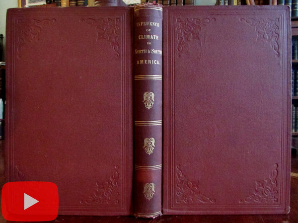 Climate in North & South America 1867 Disturnell book Colton Climatological map