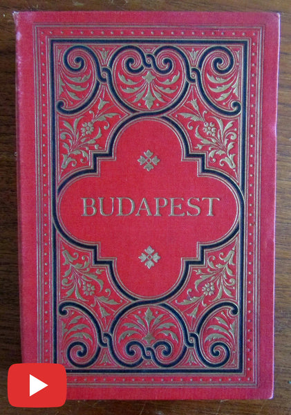 Budapest Hungary 1895 photo album souvenir book