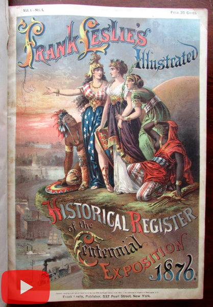 Philadelphia Centennial Exposition 1876 Frank Leslies Illustrated Register book