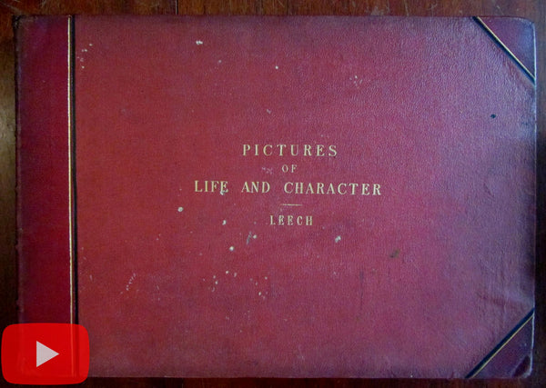 John Leech Punch cartoons Life Character 1860-69 Three Series works in one