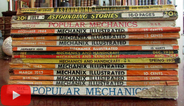 World War II era magazines 1925-1946 Aviation Mechanix Illustrated Astounding Stories