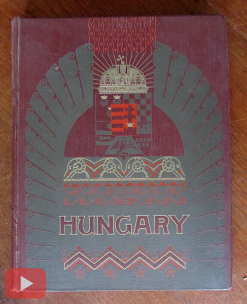 Wiener Werkstatte Hungary 1910 Budapest Erdelyi Railroad old book illustrated