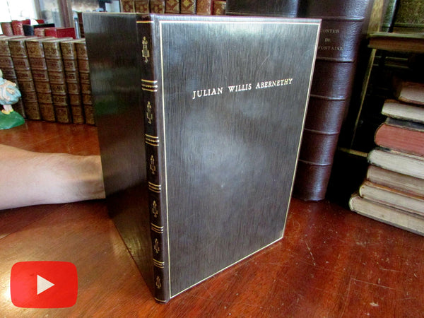 Julian Willis Abernethy Library Dedication book 1928 Middlebury College Vermont