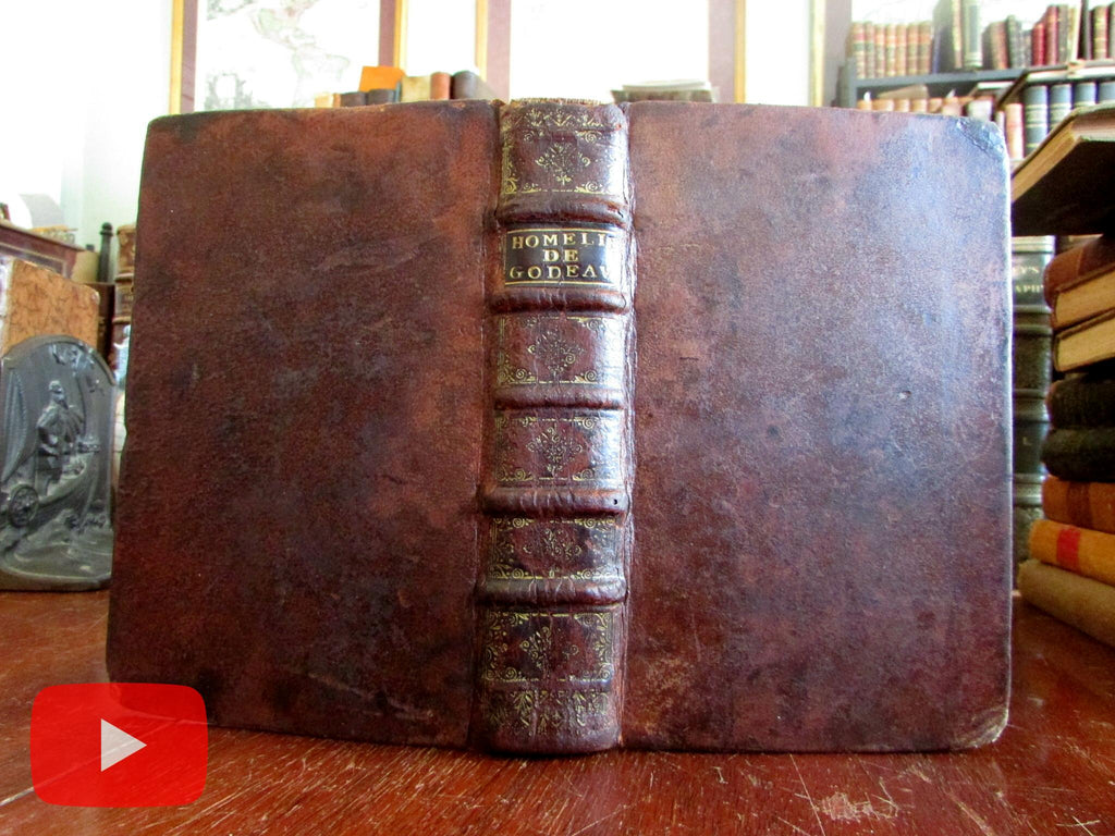 Godeau Religious Homilies 1734 scarce French book Festivals of Year Sundays