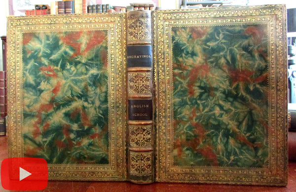 Splendid pre-1850 English engraving collection album 115 proofs & pre-lettered prints