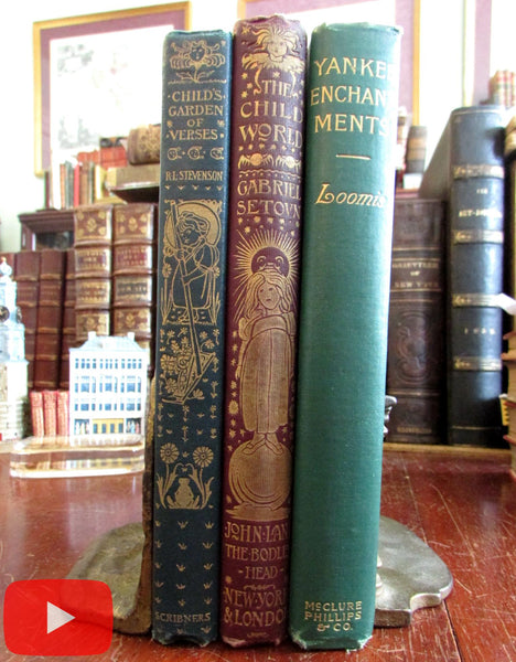 Art Nouveau 1896-1900 children's illustrated books Charles Robinson R.L. Stevenson