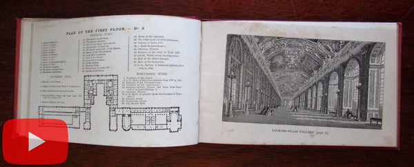 Versailles Trianons c.1870-80 scarce pocket guidebook illustrated 20 views