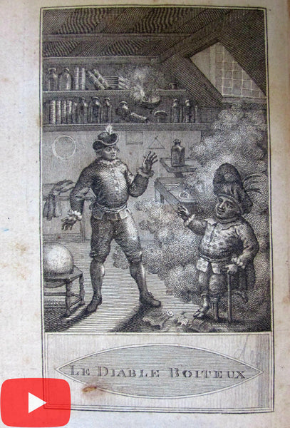 Devil on Two Sticks Le Sage 1789 Edinburgh scarce book Madrid Spain Demon King