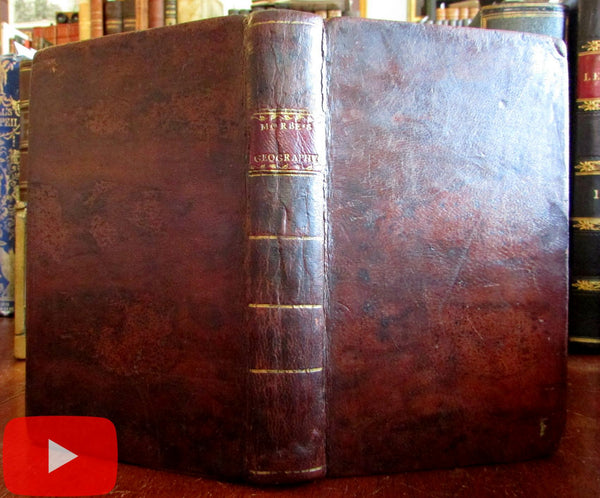 Jedidiah Morse 1812 American Geography 2 folding maps North America leather book