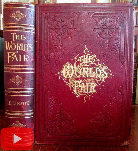 Chicago Columbian Exposition 1893 Cutler rare illustrated book color plates