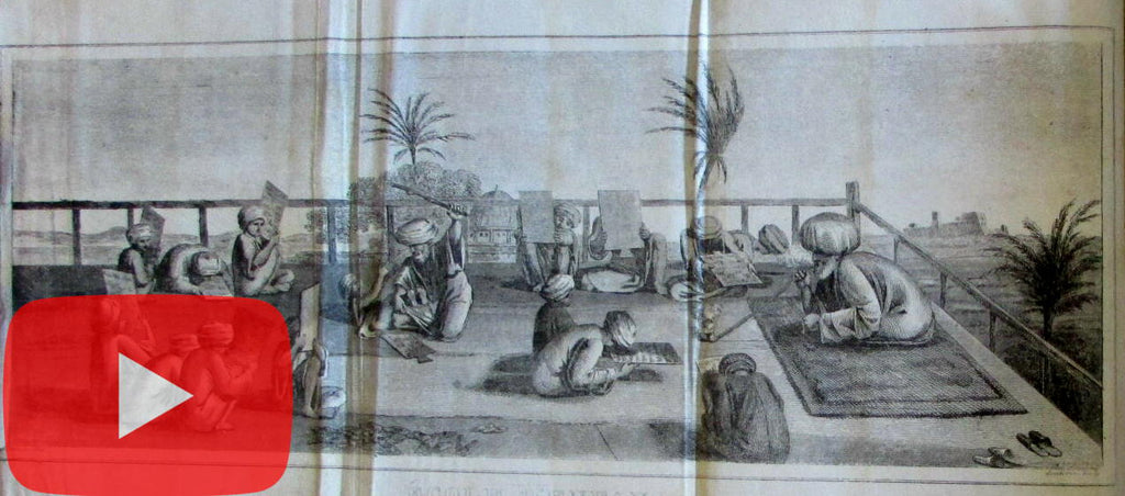 History of Algeria Africa 1839 de Vinchon illustrated Madrassa school Koran Islam