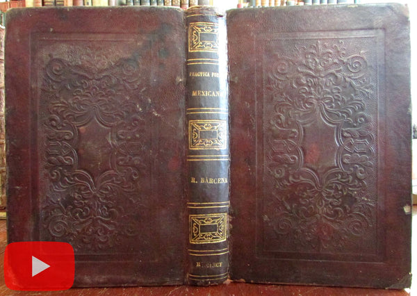 Mexico Civil Law 1869 by Rafael Barcena Mexican nice embossed leather binding