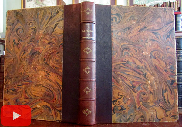 Ancient Greece Women in Greek Art 1901 Notor fine leather book illustrated LMT'D ed.