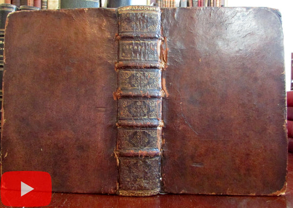 rare World & Holy Land maps 1696 de Masso engraved Judaism fine book 11 plates