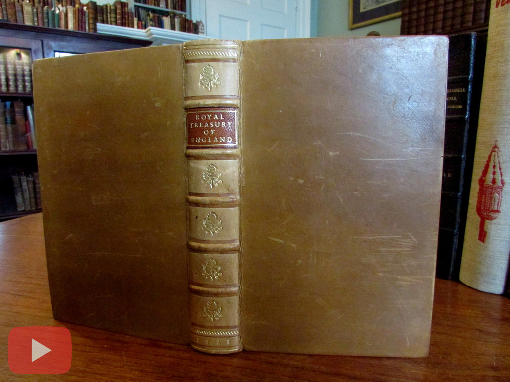Taxation History 1725 Royal Treasury England John Stevens old rare book