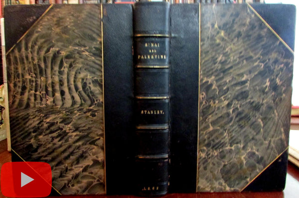 Holy Land Palestine Sinai 1862 Stanley book maps geography history archaeology