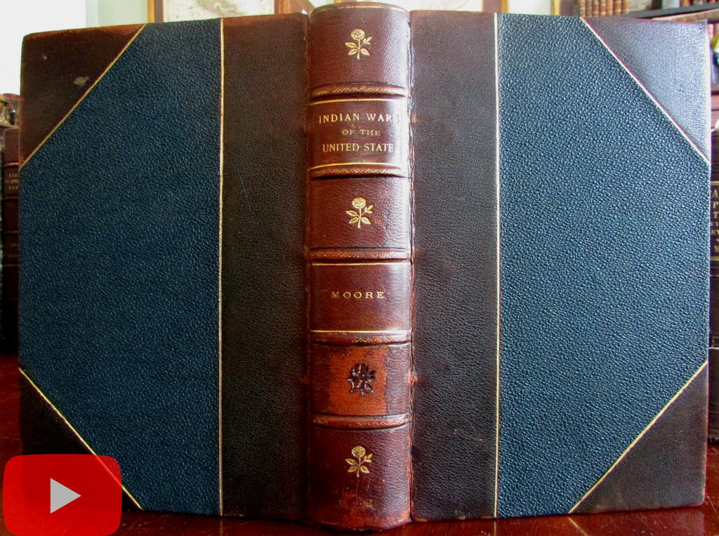 Indian Wars native American origins superstitions 1856 illustrated book color plates