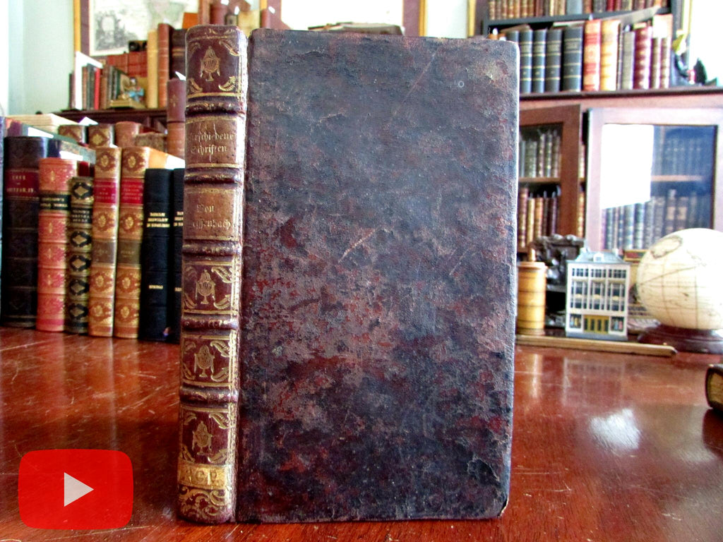 Weissenbach Theological Writings 1790's Germany beautiful gilt leather book Japan