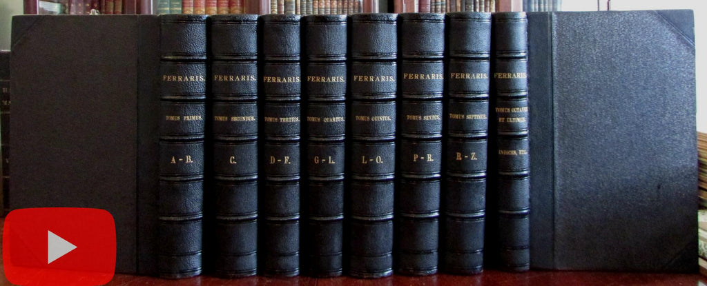 Lucius Ferraris Prompta Bibliotheca Latin Theological Encyclopedia 1866 set 8 vol.
