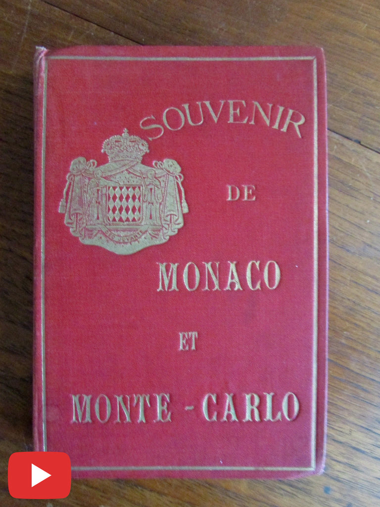 Monaco & Monte-Carlo photo album c.1860-70 w/ 12 albumens