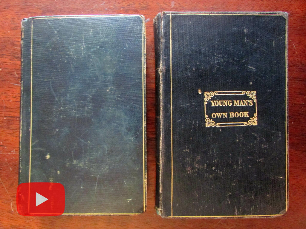 Young Man's Book Etiquette Social conduct 1833-43 Success in Life 2 old books