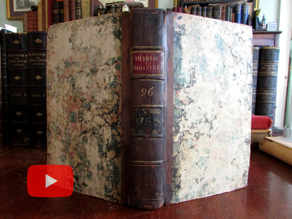 1795 England London British Culture 6 issues rare Universal Magazine political geography