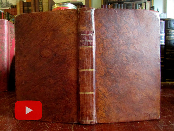 New Hampshire 1823 State Gazetteer 8 engraved views fine leather book