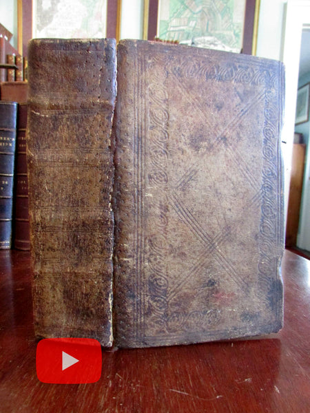 Johann Friedrich Starck Religion 1843 decorative leather book w/ many woodcuts
