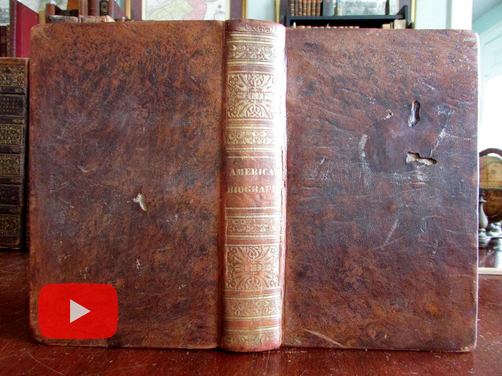 Lives of Signers of Declaration of Independence 1834 leather book engraved portraits