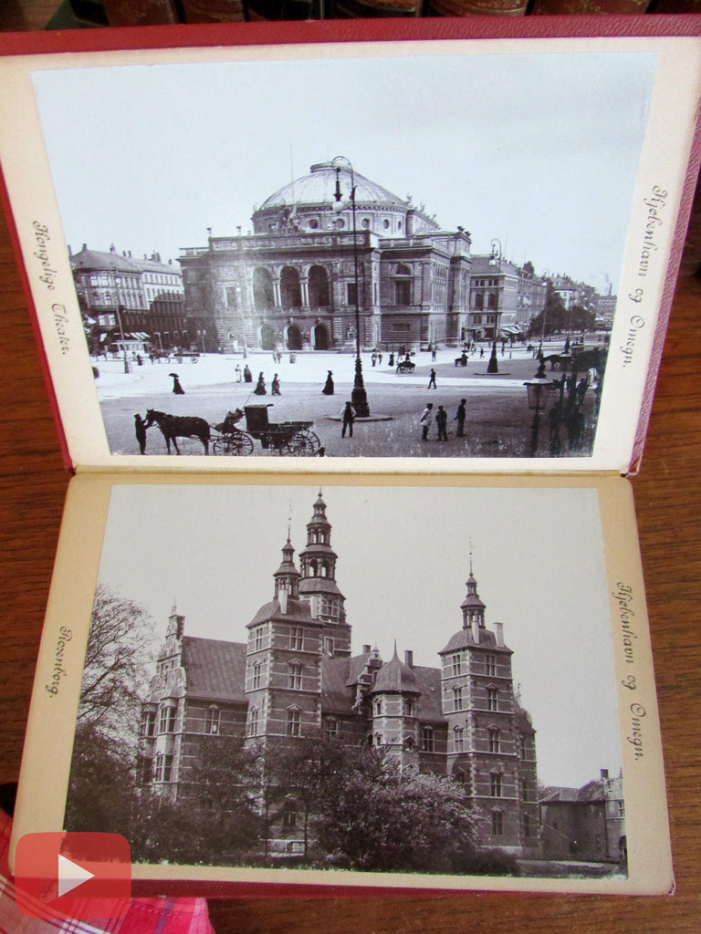 Copenhagen Denmark c.1890-1900 Souvenir tourist photo view album old book