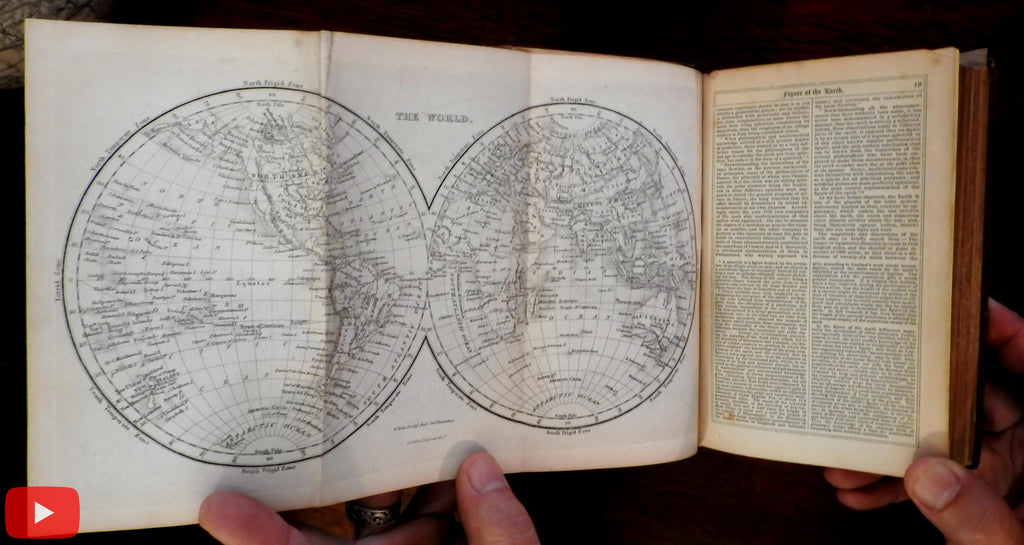 Gazetteer Pocket Atlas Geography of World 1857 book 7 maps & 16 engravings