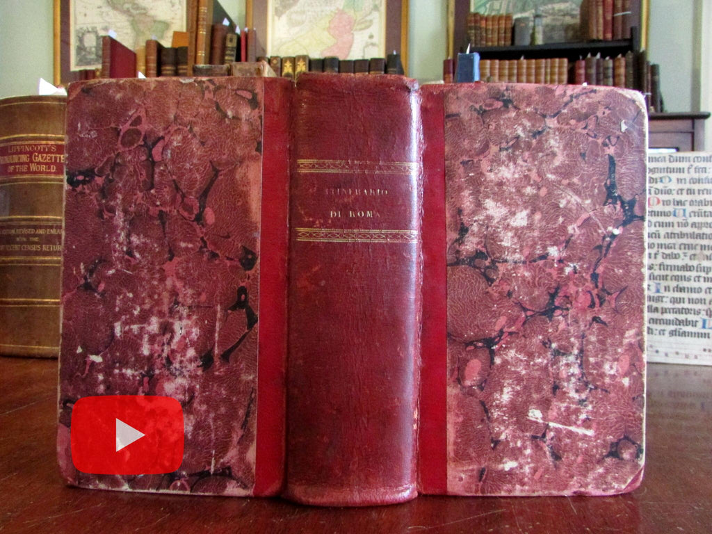 Rome Roma Italia Italy 1827 guide book w/ 2 city plans & 51 engraved views monuments