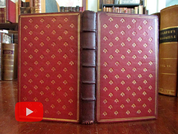 Maid of Elvar Poem by Cunningham 1832 First Ed. gilt leather book lovely unique