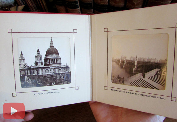 London c.1870-80 Photographic tourist souvenir album old book nice city views