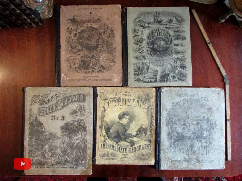 Geography 19th century World maps & illustrations 1868-90 lot 5 books