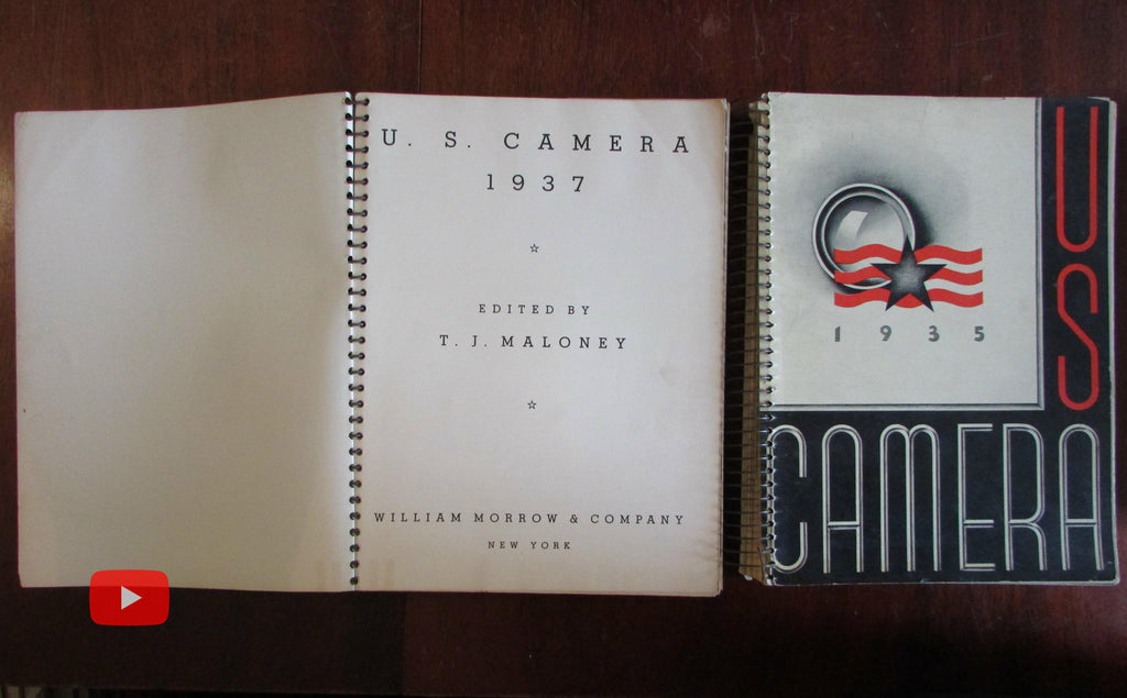 US Camera 1935 First Year issue spiral bound artistic b&w photography w/ 1937