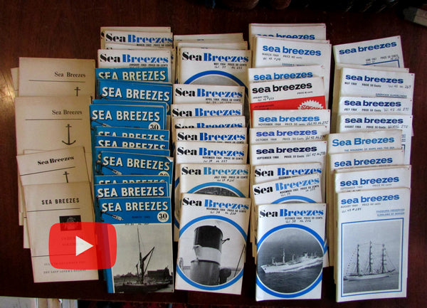 Nautical Sea Beezes British naval periodical 1961-69 lot 50 illustrated issues
