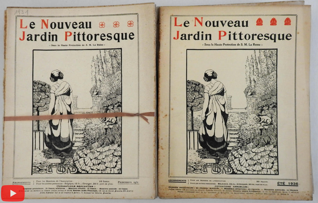 Landscape Gardening Le Nouveau Jardin Pittoresque 1930-39 magazine 40 issues run