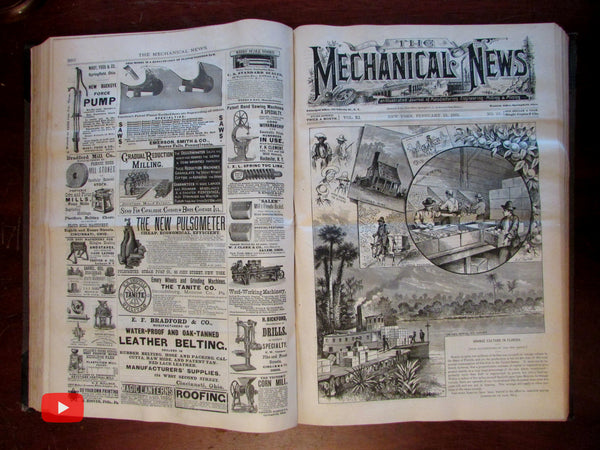 Mechanical News 1881-83 Engineering Manufacturing Illustrated Leffel rare journal book