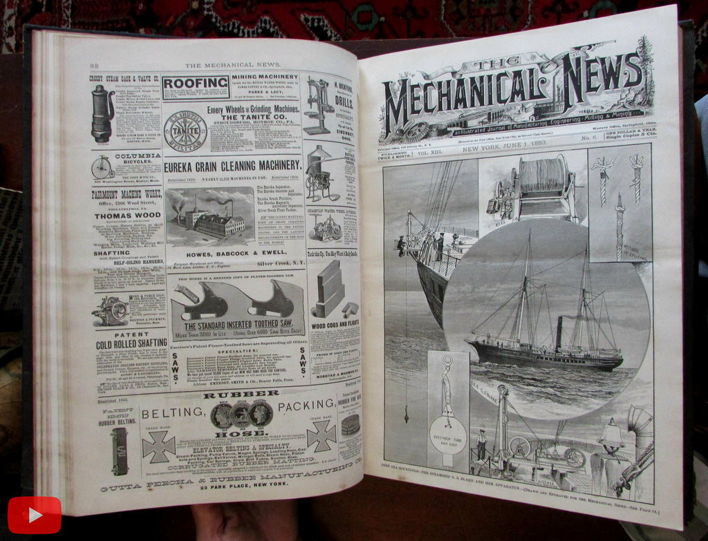 Engineering Illustrated Science 1883-85 America Mechanical periodical 48 issues
