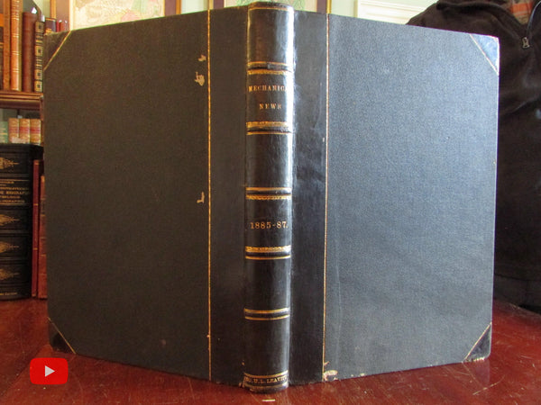 Mechanical News Engineering Manufacturing 1885-87 Illustrated Leffel rare journal book