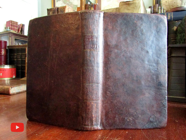 American Religion 1797 Minister Job Scott early leather book Gospel Labors