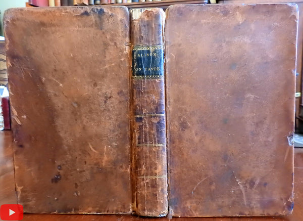 Nature & Principles of Taste 1821 Allison leather book Aesthetics Philosophy