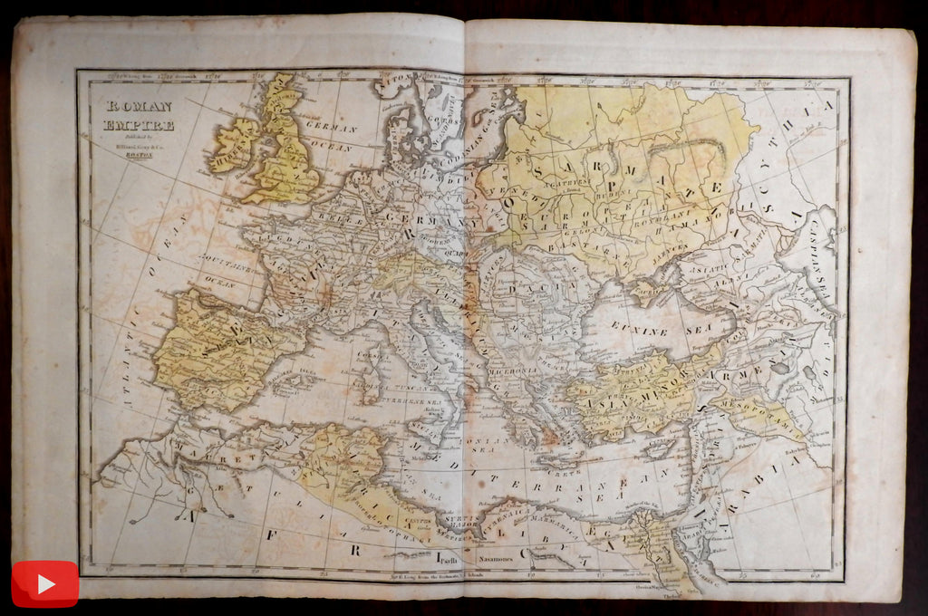 Atlas Ancient Geography c.1820 Boston Hilliard Gray Worcester w/ 5 maps