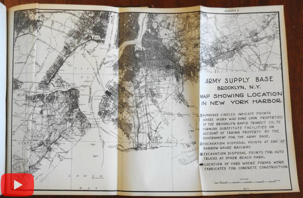 Brooklyn New York Army Supply Base 1919 Project Completion Report 63 photographs