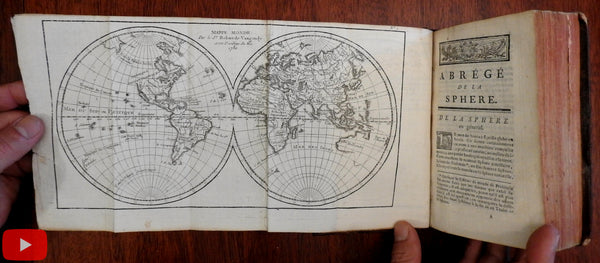 Atlas Vaugondy 18 world-wide maps 1781 Geography Gazetteer rare book gilt