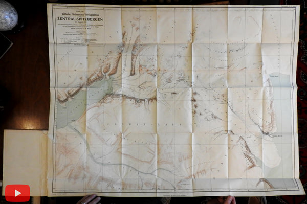 Spitzbergen Norway Arctic Circle Polar 1914 Expedition Dr. Philipp 2 maps