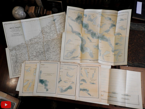 Pomerania Germany Lakes 1901 Halbfass Pommerscehn Seen w/ 5 maps