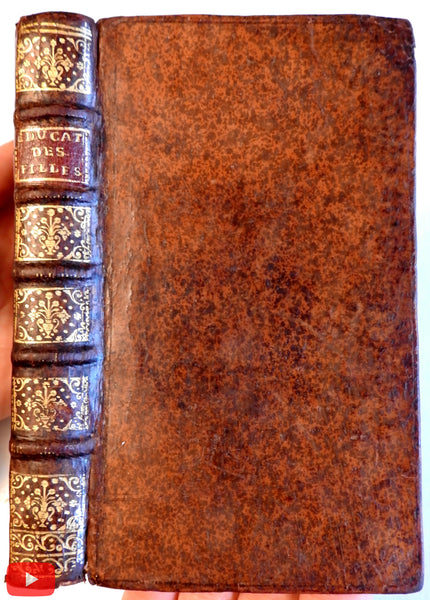 Fenelon Education of Women 1729 French book lovely gilt leather binding